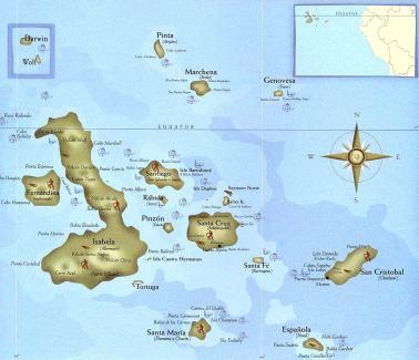 Map of Galapagos Islands